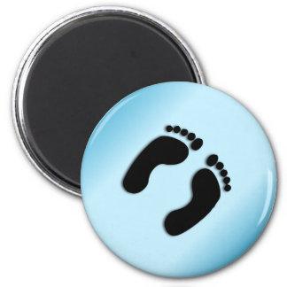 Blue Foot Prints Magnet