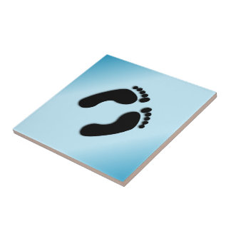Blue Foot Prints Tile