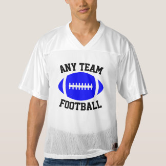 Blue Football Any Team Name, Player Name & Number Men's Football Jersey