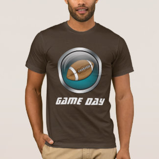 Blue : Football : Brown Game Day Shirt