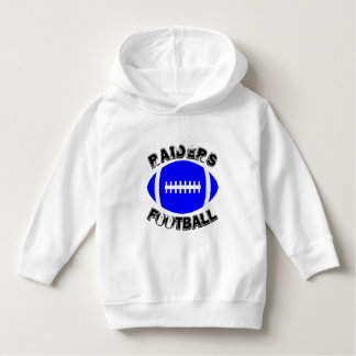 Blue Football Custom Team Name or Text Game Day Hoodie