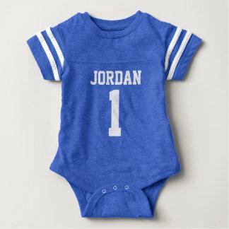 Blue Football Jersey - Sports Theme Birthday Party Baby Bodysuit