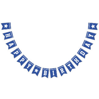 Blue Football Jersey - Sports Theme Birthday Party Bunting Flags