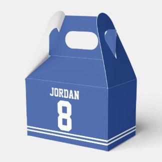 Blue Football Jersey - Sports Theme Birthday Party Favor Box