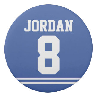 Blue Football Jersey with Custom Name and Number Eraser