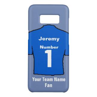 Blue Football Shirt Choose name and team Case-Mate Samsung Galaxy S8 Case