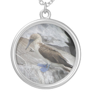 Blue Footed Bird Necklace