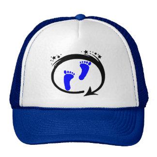 Blue Footprints Trucker Hat