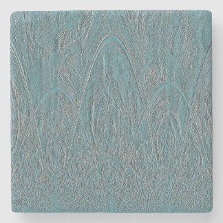 Blue Forest Relief Stone Coaster