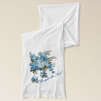 Blue Forget-Me-Not Hanging Floral Bouquet Scarf