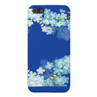 Blue Forget Me Nots Case For The iPhone 5