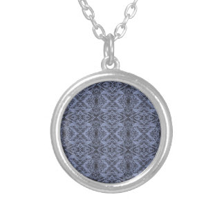 Blue Foxtail Repeat Silver Plated Necklace