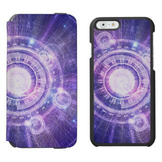 Blue Fractal Alchemy HUD for Bending Hyperspace Incipio Watson™ iPhone 6 Wallet Case
