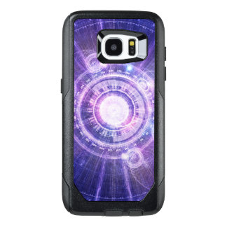 Blue Fractal Alchemy HUD for Bending Hyperspace OtterBox Samsung Galaxy S7 Edge Case