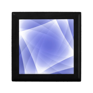 Blue Fractal Blank Background Gift Box