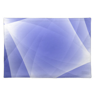 Blue Fractal Blank Background Placemat