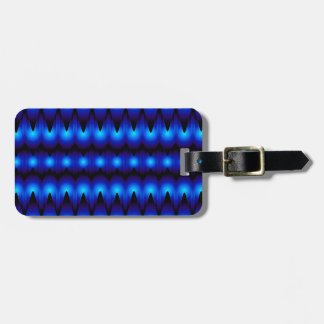 blue fractal graphic luggage tag