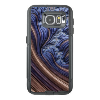 Blue fractal image OtterBox samsung galaxy s6 case