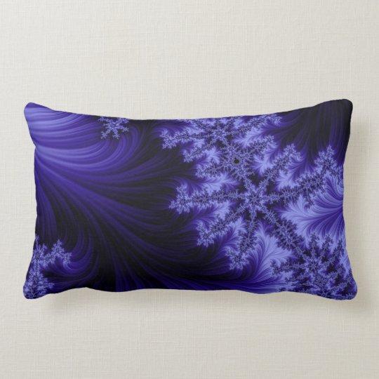 Blue Fractal Lumbar Pillow