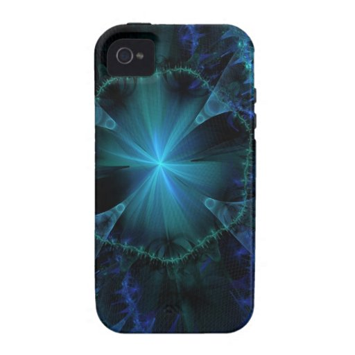 Blue Fractal Pattern Case-Mate iPhone 4 Case