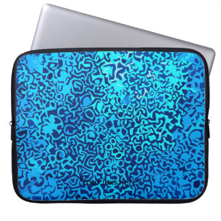 Bluefractalpattern Laptop Sleeve