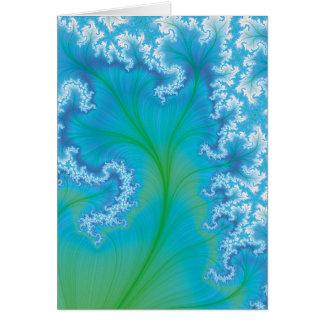 Blue Fractal Tree Card