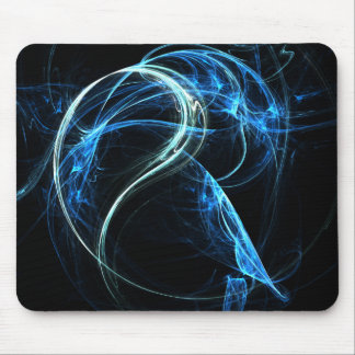 Blue Fractical mouse pad
