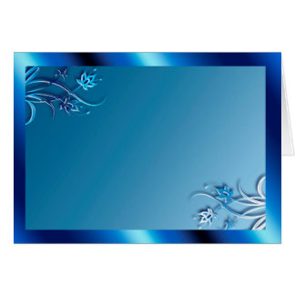 Blue Frame (landscape) Card