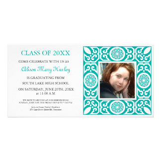 Blue Frame - Photo Graduation Party Invites
