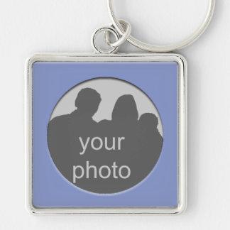 Blue Frame Your Photo Premium Keychain
