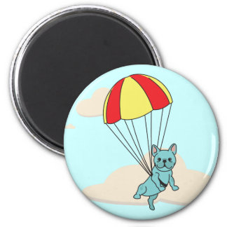 Blue French Bulldog Umbrella Fun Magnet