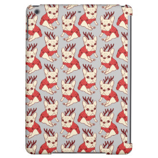 Blue Frenchie in Christmas Sweater iPad Air Case