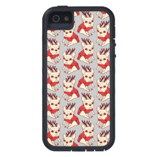 Blue Frenchie in Christmas Sweater iPhone 5 Case