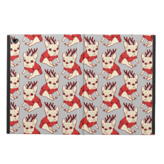 Blue Frenchie in Christmas Sweater Powis iPad Air 2 Case