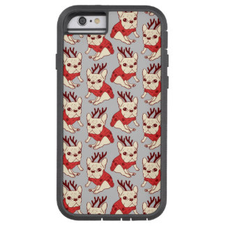 Blue Frenchie in Christmas Sweater Tough Xtreme iPhone 6 Case