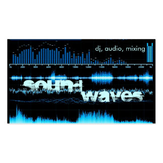 blue frequency waves DJ producer business card