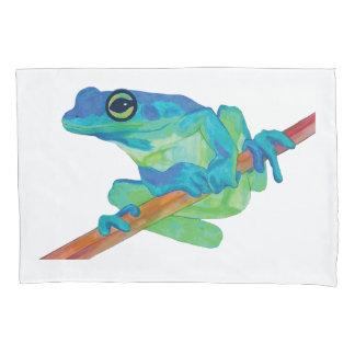 Blue Frog Pillowcase