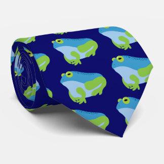 Blue Frog Tie