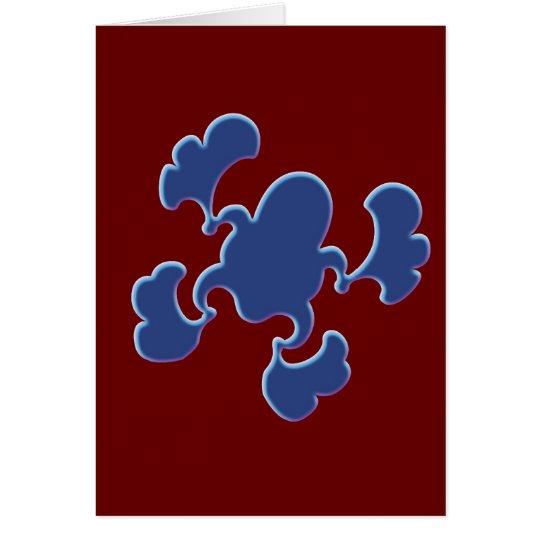 Blue Froggy Design Card