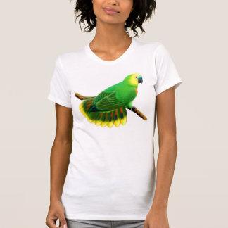 Blue Front Amazon Parrot Petite T-Shirt