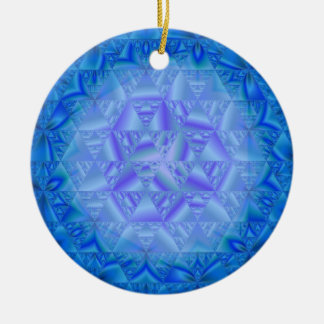 Blue Frost Generative Art Christmas Ornament