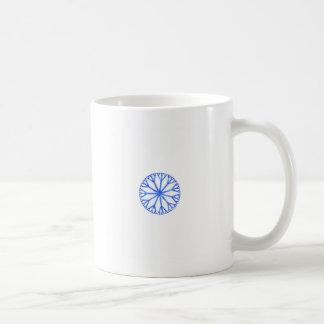Blue Frosty Snowflake Coffee Mug