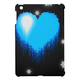 Blue Frozen Heart iPad Mini Cases