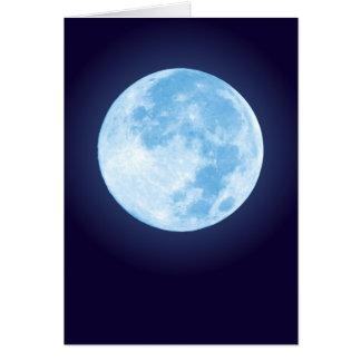 Blue Full Moon Card