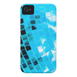 Blue Funky Disco Ball iPhone 4 Case