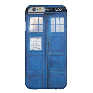 Blue Funny Phone Booth Call Box Barely There iPhone 6 Case