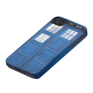 Blue Funny Phone Booth Call Box Case-Mate iPhone 4 Cases