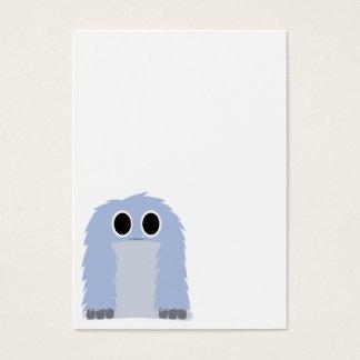 Blue Furry Monster Business Card