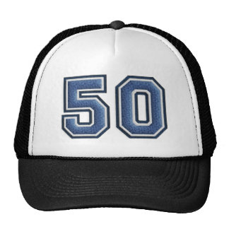 Blue Fuzz Number 50 Trucker Hat