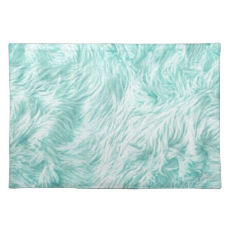 Blue Fuzzy Pattern Placemat